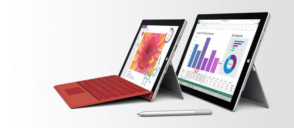 Comparație Surface 3 Surface Pro 3